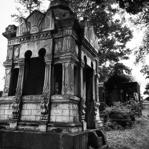 Derelict tombs