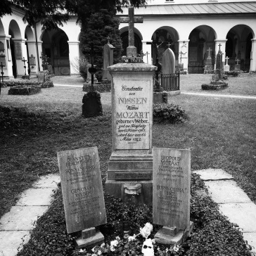 The Mozart family grave