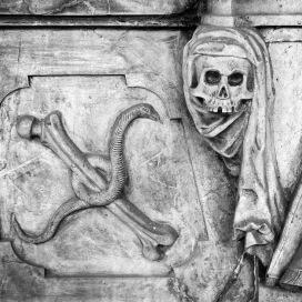 Draped skull