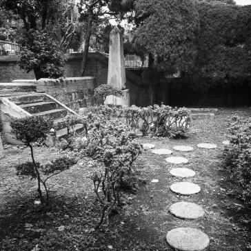 Inside the Dutch cemetery