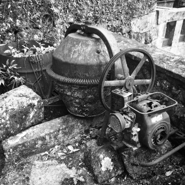 Some old rusted machinery up on the mountain