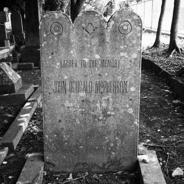 Many graves had Masonic symbols on them