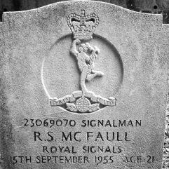 Royal Signals: R.S. McFaull (21)