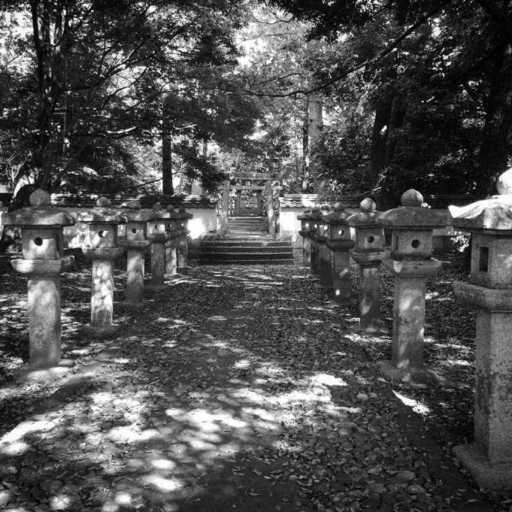 Lanterns and Mori gravesite