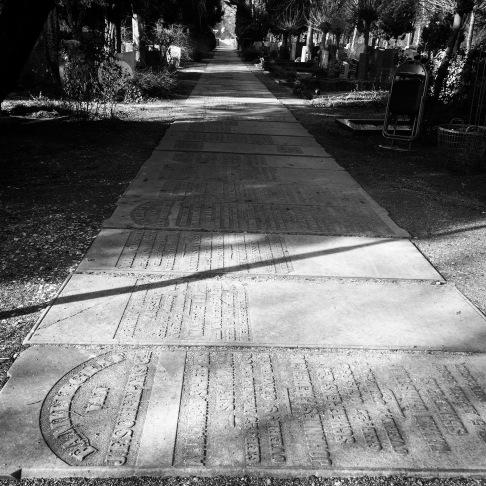 Gravestone pathway