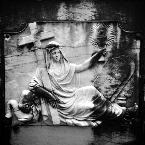 Grave relief