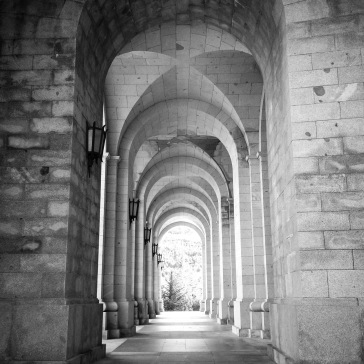 Portico to the main entrance