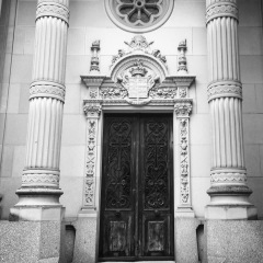 One of the many beautiful family mausoleums