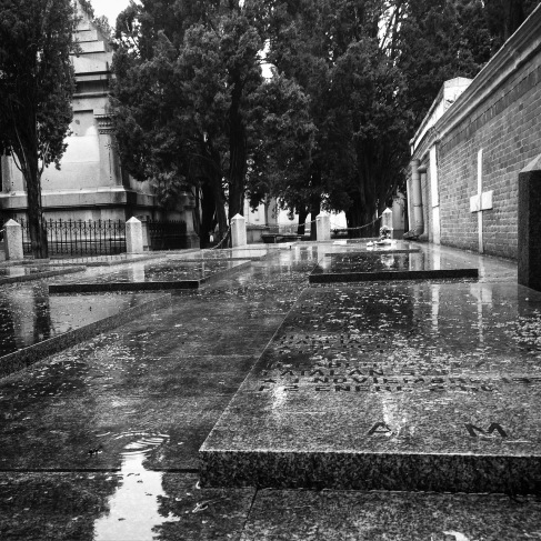 A wet, rainy day