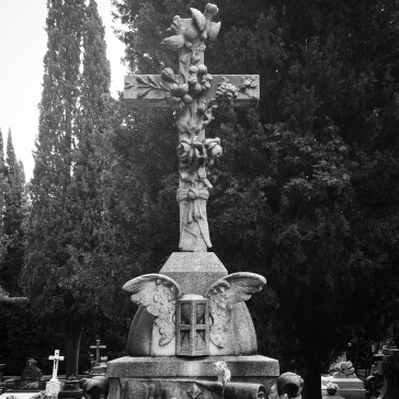 Cross with many symbols