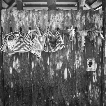 Old bibs on a wall
