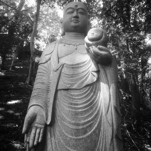 Statue on the temple grounds