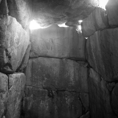 Inside the burial chamber