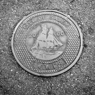 Local manhole near the cemetery