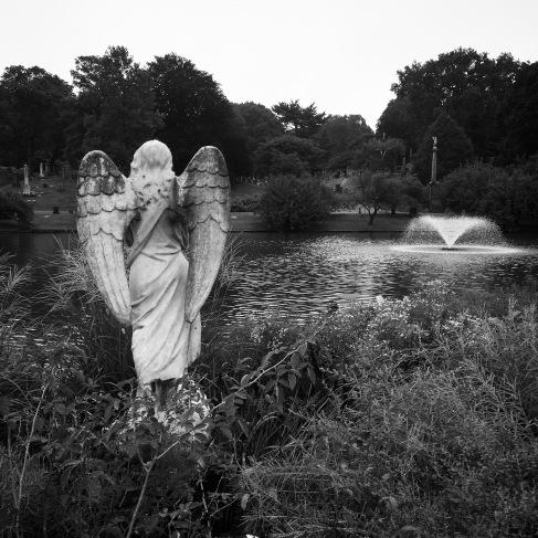 Angel and pond