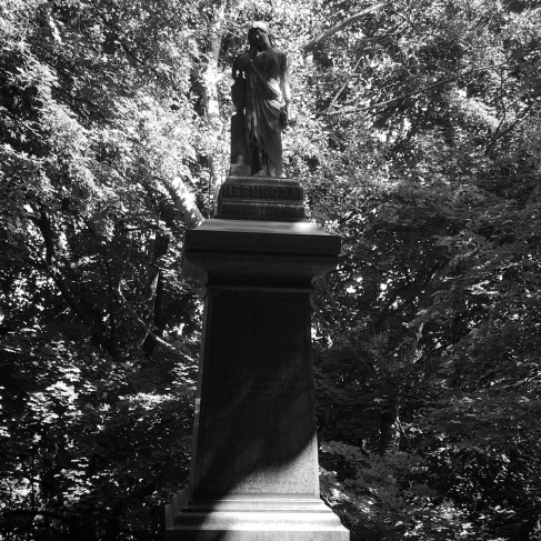 Possibly the only statue on the grounds