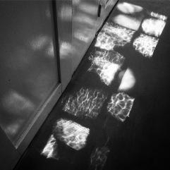 Light shadows through the original windows