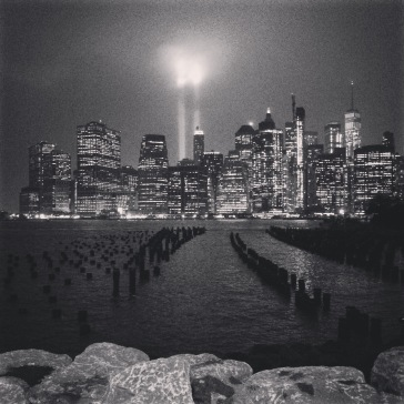 Rainy night for the 9/11 memorial tribute
