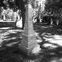 White bronze obelisk