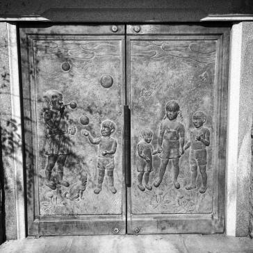 Bronze doors of the tomb