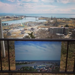 After (top) and before (bottom) of what the land looked like before the tsunami