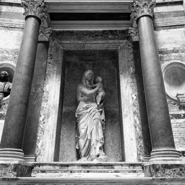 Madonna del Sasso, sculpted by Raphael's student