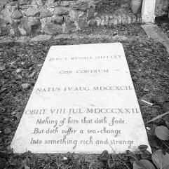Shelley's gravestone