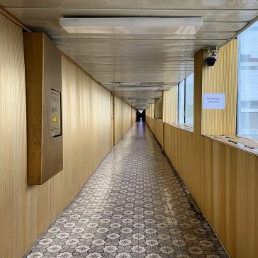 The Golden Corridor, runs a full kilometre past all 4 reactors and control rooms