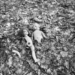 Dolls in elementary school yard