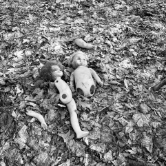 Dolls in elementary school yard