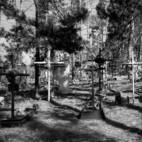 Crosses in the cemetery