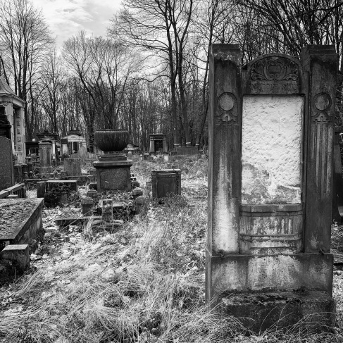 Many headstones are missing the inscriptions