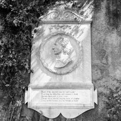 Keats' memorial near his grave