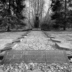 WWII memorial in front of elementary school