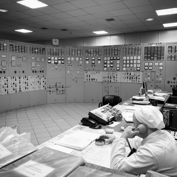 Men at work in Reactor 2 control room