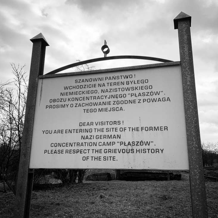 Sign at the entry points to the camp