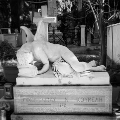 Grieving male angel