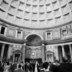 Crowds inside the pantheon