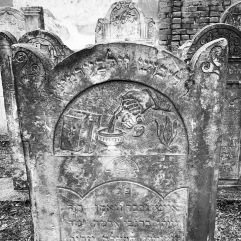 A detailed headstone