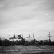 The remains of Reactor 5, which was under construction at the time of the accident