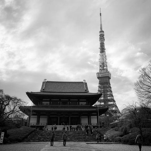 Main hall with Tokyo Tower