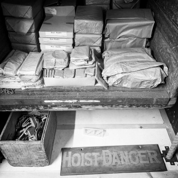 Packages in the dumb waiter