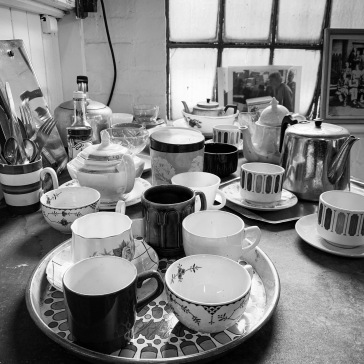 Everyone's cups ready for tea