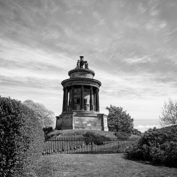 Robert Burns memorial, next to the cemetery