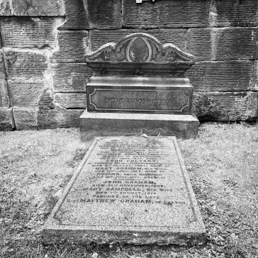 One of the few intact graves