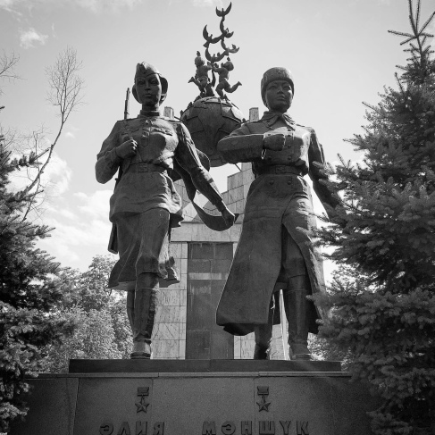 Two brave Kazakh soldiers