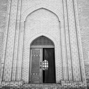 Front door to mausoleum