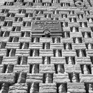 Baked bricks