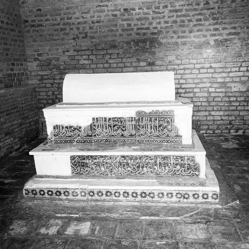 Grave inside a mausoleum